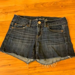 AOE Denim Frayed Shorts
